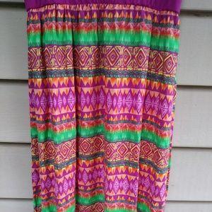 Faded Glory Dresses - Colorful Maxi Dress Large